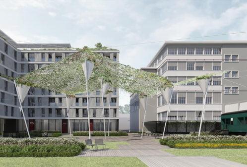 Konstruktionsprojekt der Pergolen und Dachaufbauten - Vis. 06-03