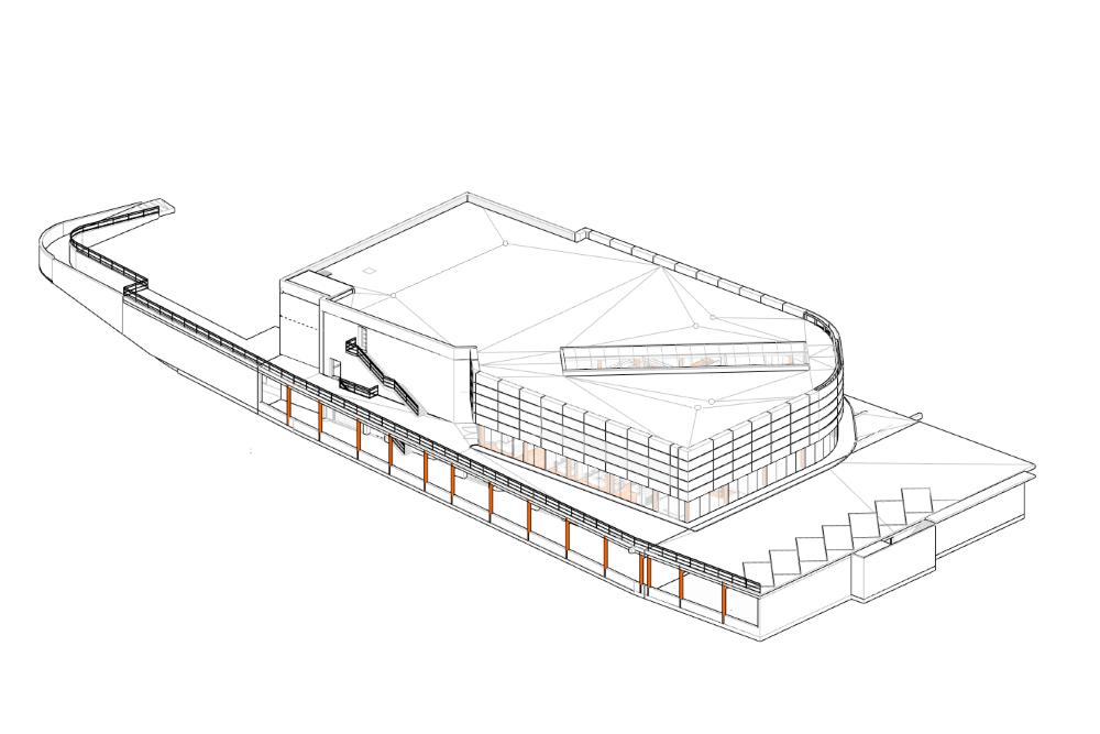 Konstruktionsprojekt des Autosalons PORSCHE - Zchng. 02-03