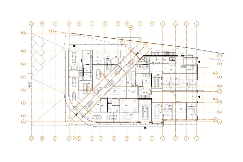 Konstruktionsprojekt des Autosalons PORSCHE - Zchng. 04-03