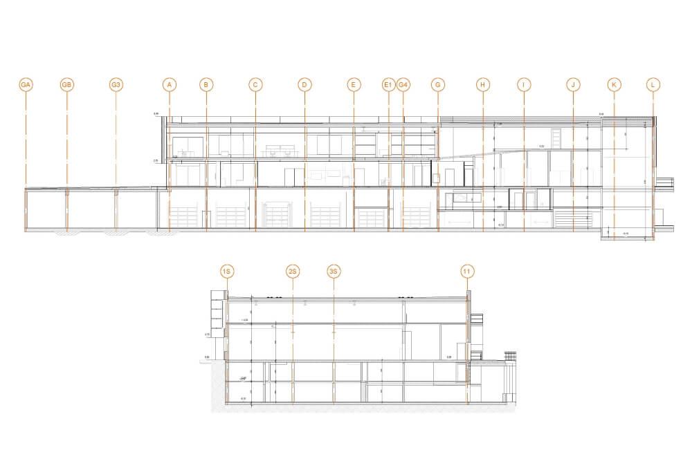 Konstruktionsprojekt des Autosalons PORSCHE - Zchng. 05-03