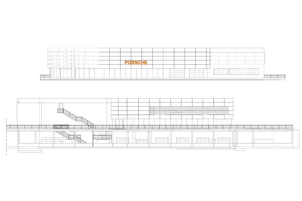 Konstruktionsprojekt des Autosalons PORSCHE - Zchng. 06-03