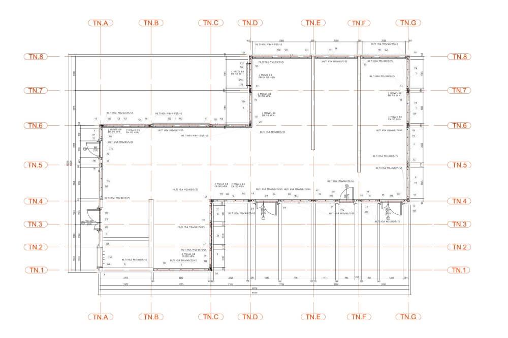 Projekt konstrukcyjny pergoli i zadaszeń klatek schodowych - rys. 04-03