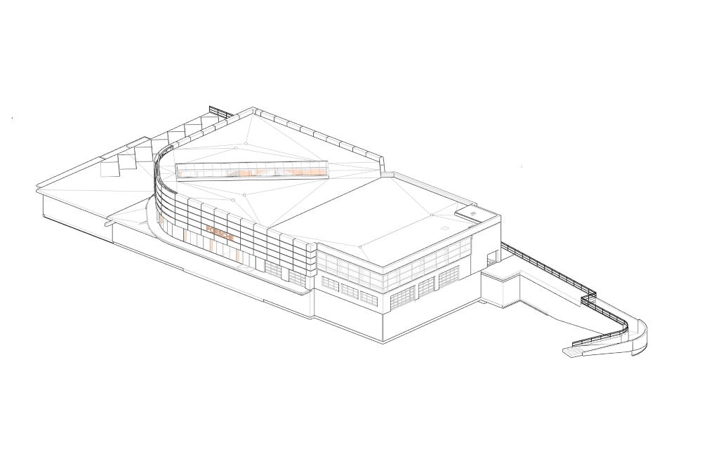 Projekt konstrukcyjny salonu PORSCHE - rys. 01-03